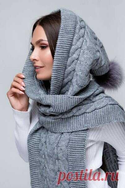 18 необыкновенных вязаных шарфов-капюшонов   Только handmade   Яндекс Дзен