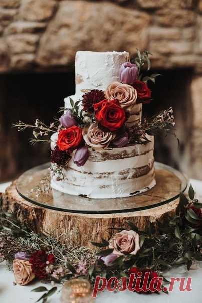 Живые цветы в декоре торта: ТОП-9 идей 🌺