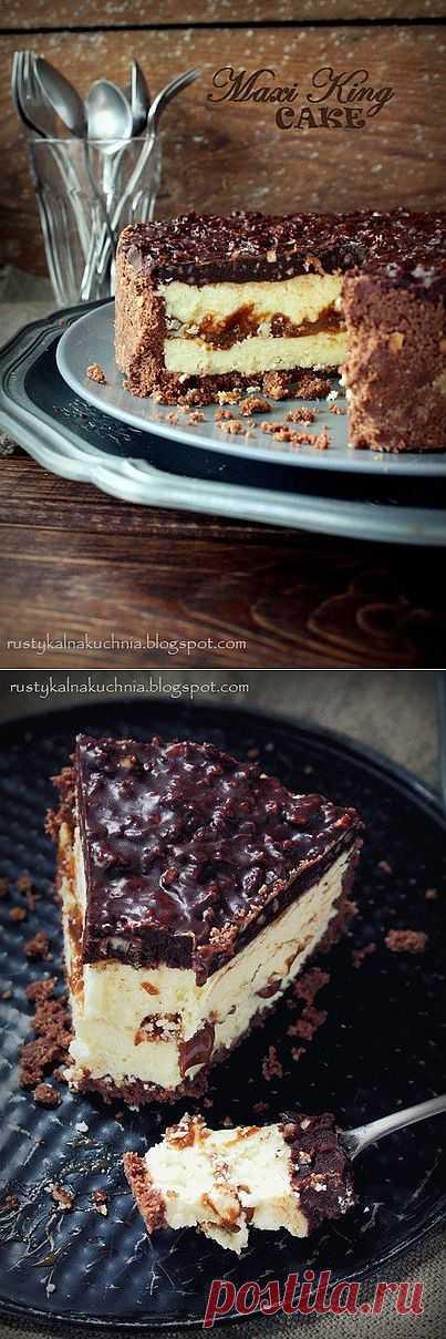 Молочный торт с карамелью и шоколадом » Кулинарные рецепты