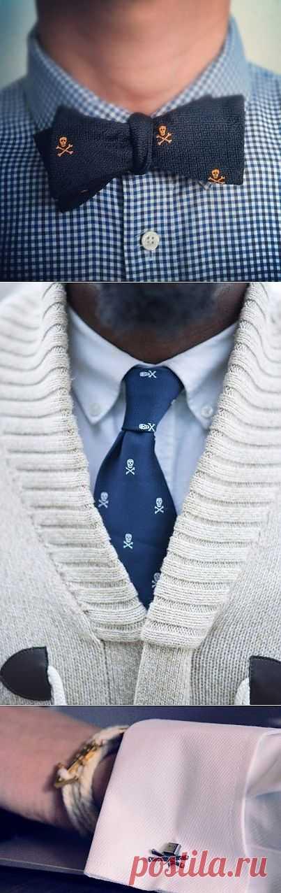 Черепушки на мужских аксессуарах / Аксессуары (не украшения) / Модный сайт о стильной переделке одежды и интерьера