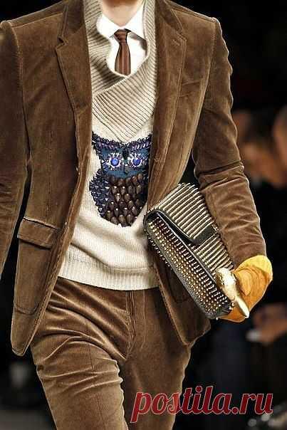 Сова на мужском свитере / Мужская мода / Модный сайт о стильной переделке одежды и интерьера