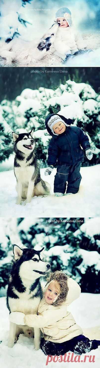 Детская зимняя фотосессия: милее милого!
