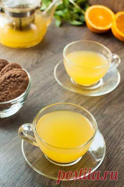 Имбирный чай с апельсином и лимоном для вашего здоровья.