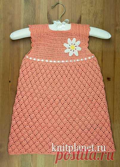 Детское платье крючком. Мастер-класс и видео по вязанию от Ольги Боган   Планета Вязания