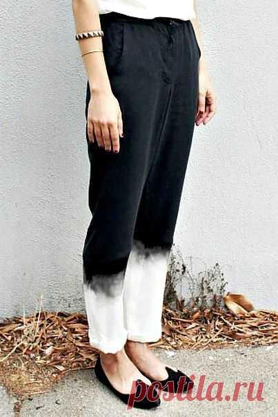 Обелили низ или зачернили верх? / Пачкаем / Модный сайт о стильной переделке одежды и интерьера