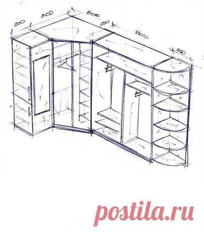 Угловой шкаф для прихожей своими руками чертежи