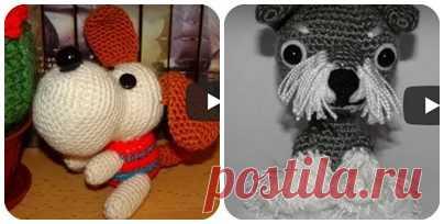 Симпатичные собачки крючком | razpetelka.ru