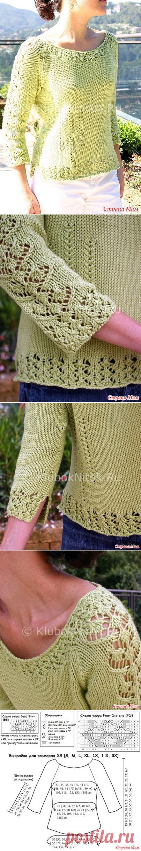 Салатовый пуловер Sorelle - Вязание спицами - Страна Мам