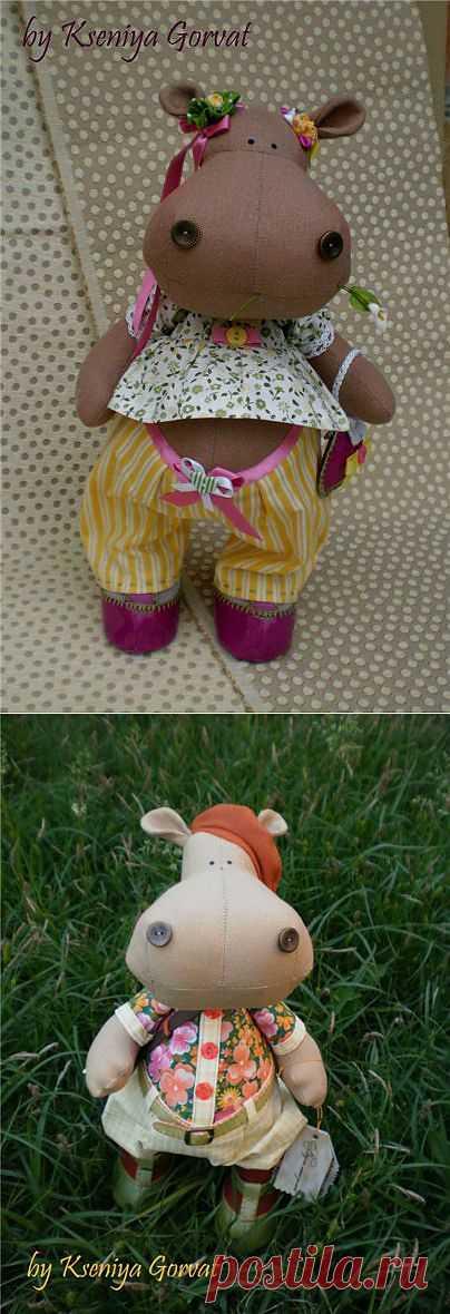 Шьём бегемота. Подробный мастер класс по шитью бегемота.