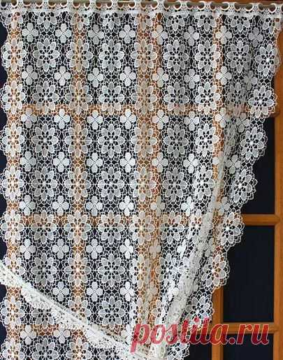 French Macrame Lace Curtains