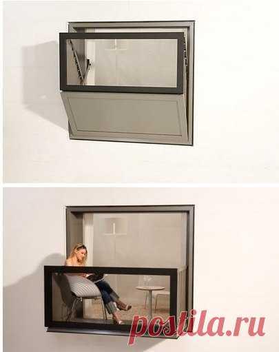 Окно-балкон сэкономит пространство и добавит шик в однообразие многоквартирных домов