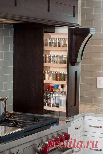 Удобное и эргономичное хранение кухонных мелочей