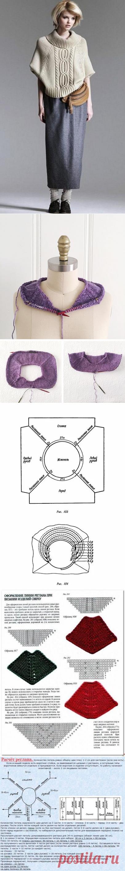 Реглан в вязаных изделиях - как правильно рассчитать петли. Описание вязаных пуловеров с регланом. | Юлия Жданова | Яндекс Дзен