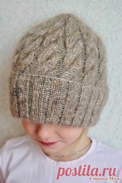 Вяжем несложную шапку с косами Puffo — Сделай сам, идеи для творчества - DIY Ideas