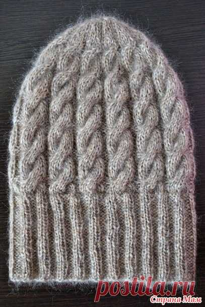 Вяжем несложную шапку с косами Puffo - Вяжем вместе он-лайн - Страна Мам