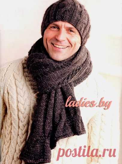 Шапка и шарф с фантазийным узором