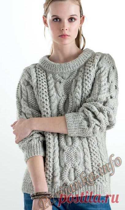 Пуловер (ж) 16*125 Phildar №4807