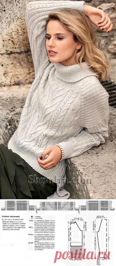 Пуловер из кашемира с сочетанием узоров