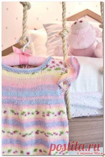 Комбинезон с крылышками для малышки спицами - Вязание для детей - Страна Мам