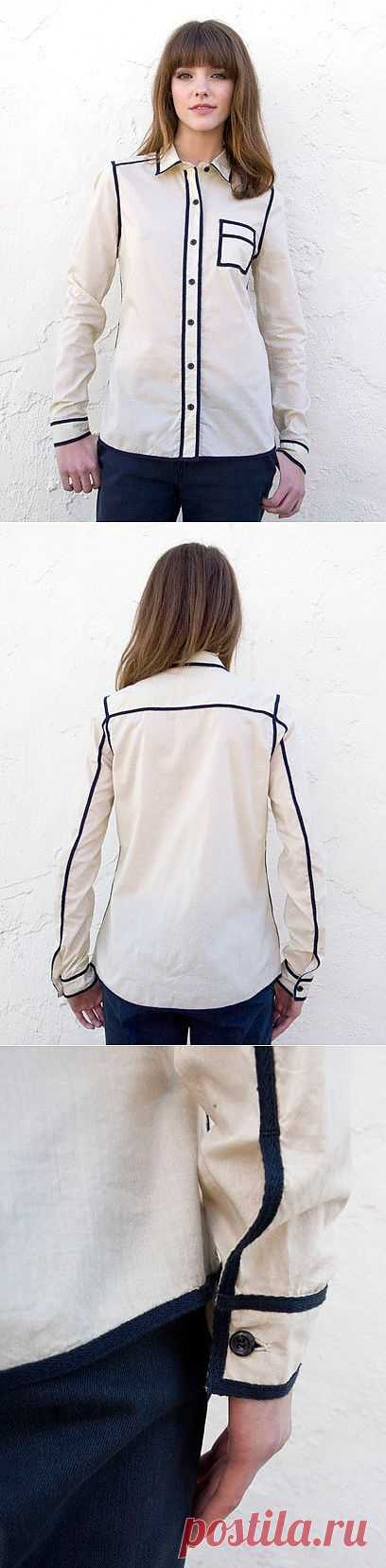 Декор швов на рубашке / Рубашки / Модный сайт о стильной переделке одежды и интерьера