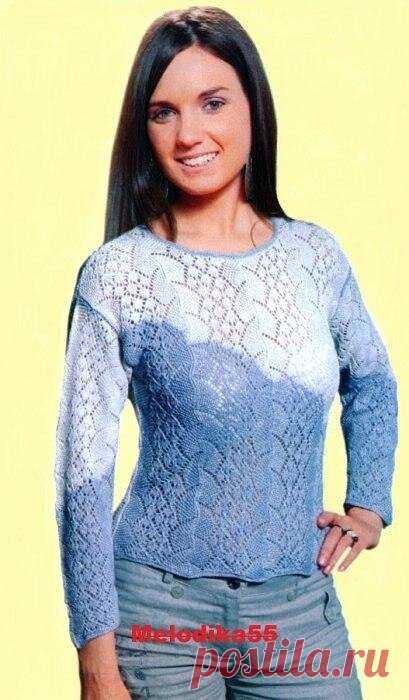 Подборка красивых пуловеров для женщин спицами с описанием.