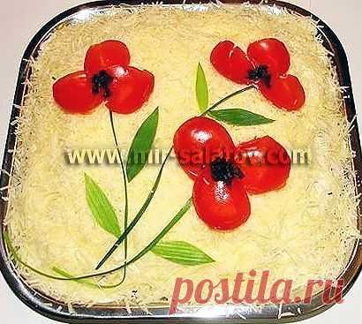 Рецепты салатов. Салат Мечта гурмана с фото