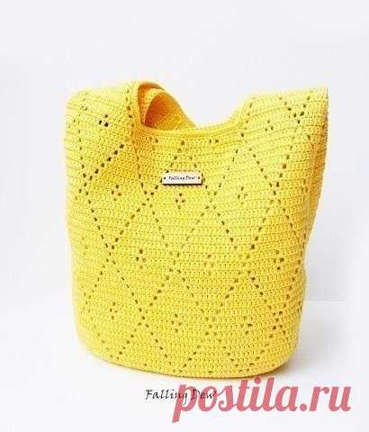 По-настоящему стильная вязаная сумка