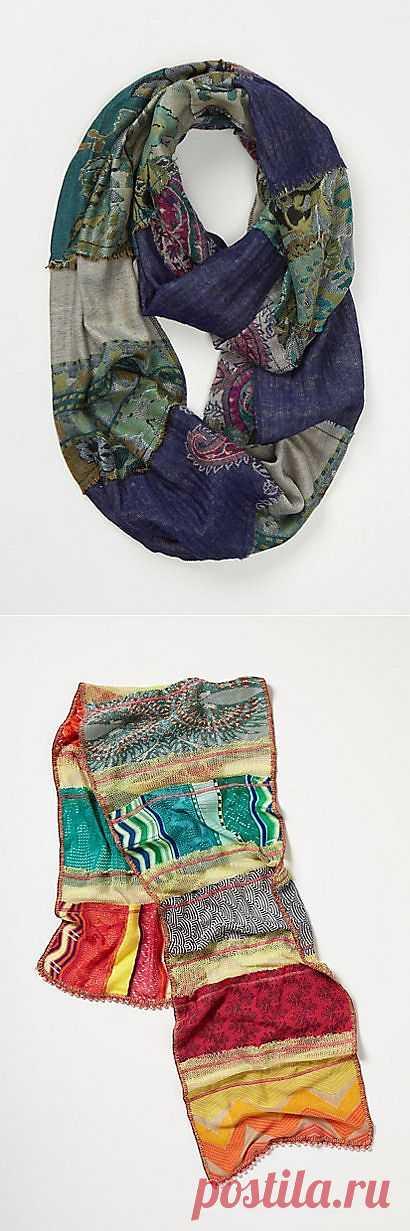 Три шарфа Anthropologie из кусков +1 / Шарфы / Модный сайт о стильной переделке одежды и интерьера