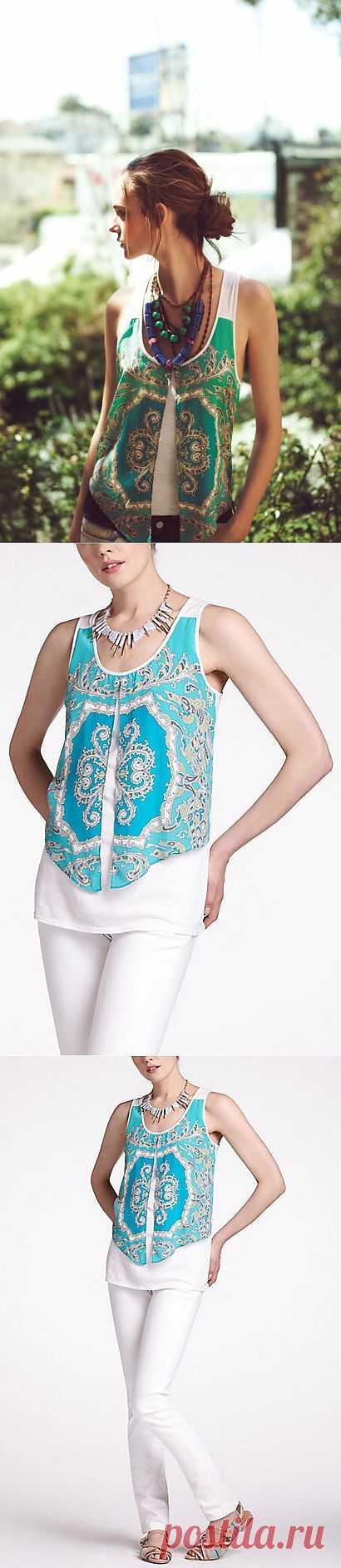 """Майка """" с платком"""" Anthropologie / Платки / Модный сайт о стильной переделке одежды и интерьера"""