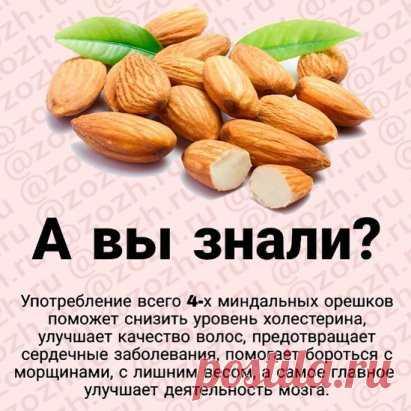 Миндаль богат своим составом, в нем содержатся такие минералы и витамины, как:  витаминами группы В (В6, В2, В5, В1, В9); ретинолом (витамин А); бета-каротином (про-витамина А); токоферолом (витамина Е); аскорбиновой кислотой (витамина С); филлохинонрм (витамина К); ниацином (витамина РР). Любите миндаль? Как часто он в вашем рационе?