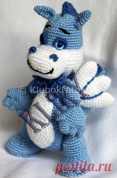 Дракончик крючком | Вязание для детей | Вязание спицами и крючком. Схемы вязания.