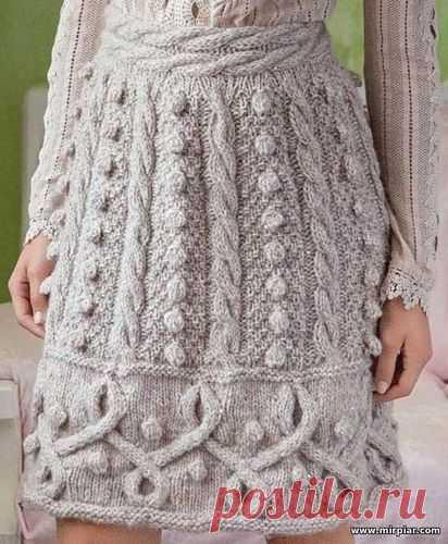 вязаная юбка вязание схемы вязания узоры вязания спицы косы