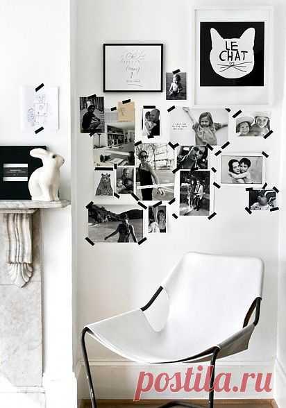 Изолента на стене / Декор стен / Модный сайт о стильной переделке одежды и интерьера