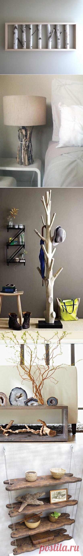 Ветки для уюта в интерьере дома
