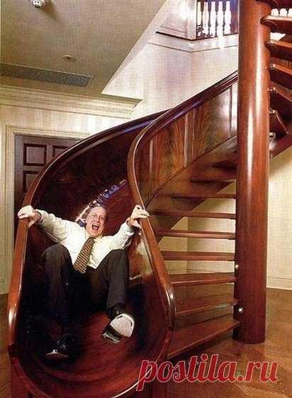 Лестница для тех, кто вечно молодой 😄