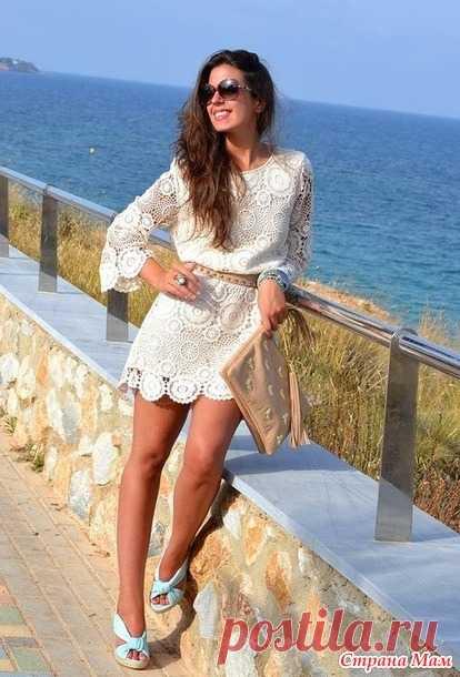 7b19266578e Платье-туника по мотивам Zara он-лайн - Вяжем вместе он-лайн ...