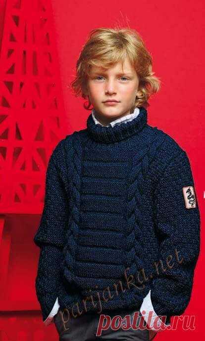 Вязаный спицами свитер для мальчика со схемами Вязаный спицами свитер для мальчика. Свитер спицами Колледж со схемой и мастер-классом. Свитер спицами для мальчика Зебра.