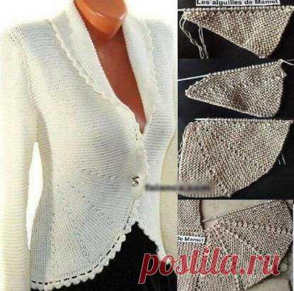 Jacket platochny knitting\u000aSizes: S — the M—L — XL – XXL — XXXL\u000aMeasurements:\u000aBreast volume: 84-92-100-110-120-134 cm\u000aLength: 54-56-58-60-62-64 cm\u000aIt will be required:\u000aDROPS Fabel yarn from Garnstudio: 400-400-450-500-550-600 g – color 905 (a black-and-white section yarn), 50-50-50-50-100-100 g — color 200 (gray)\u000aDirect spokes of DROPS of 3 mm – or the size necessary for density of 24 items x 48 rubles platochny knitting = 10*10 cm\u000aHook of DROPS of 4 mm – for a binding.\u000aNo. 536 DROPS buttons: 2 pieces.\u000aTurns:\u000aRow 1\/2: to provyazat 50-55-60