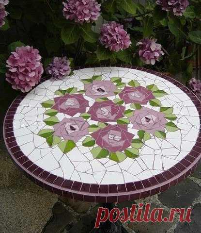 Мозаика в саду: идеи — Сделай сам, идеи для творчества - DIY Ideas