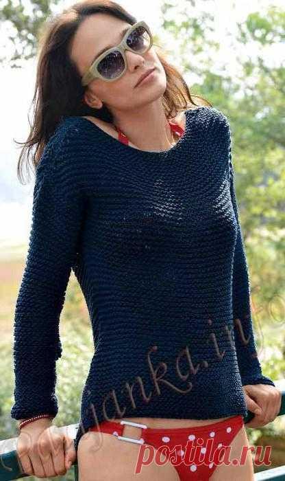 Пуловер (ж) 17*166 Bergere de France №3658.