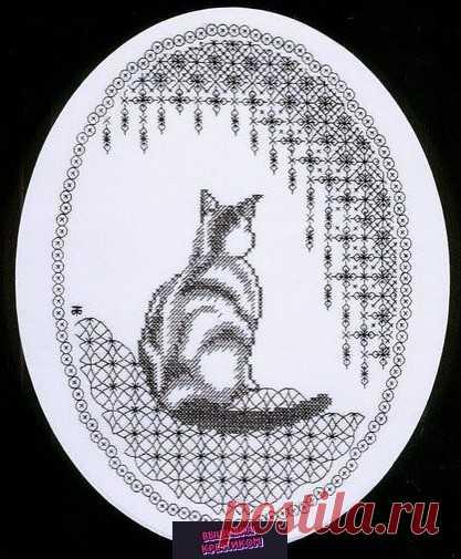 Простая и очень красивая картина с кошкой