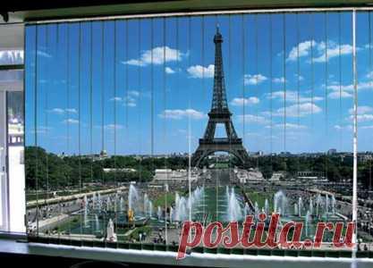 фото-жалюзи на окнах