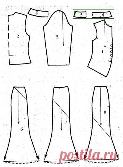 Шьем юбку шестиклинки. Выкройка юбки-шестиклинки » Бесплатные выкройки одежды, шьем своими руками платья, блузки, пальто, костюмы, сарафаны