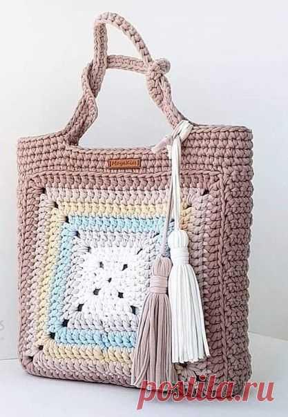 Эффектная и одновременно лаконичная сумка крючком — DIYIdeas