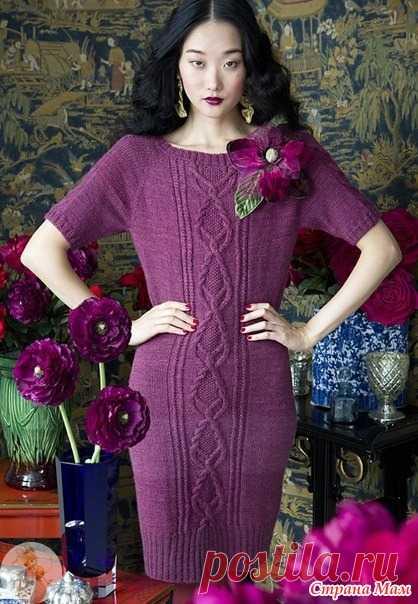 . Красивое платье спицами с описанием - Вязание - Страна Мам