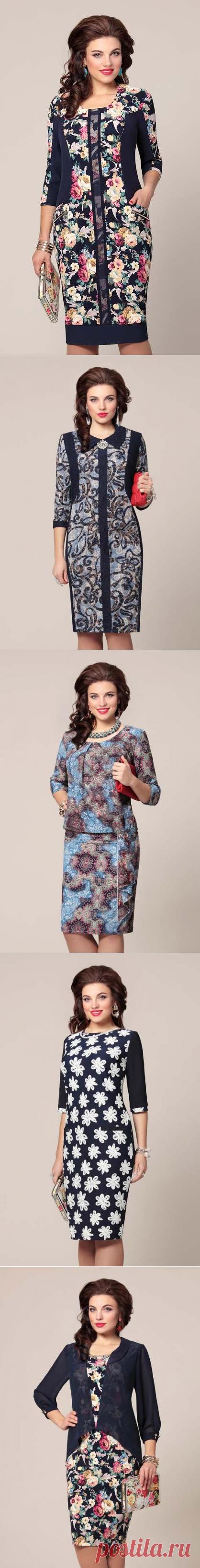 Платья для полных модниц белорусской компании Vittoria Queen. Осень-зима 2015-2016 | Платья и сарафаны для полных (5000 фото)