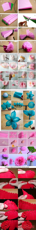 Цветы из гофрированной бумаги: красивее живых — Сделай сам, идеи для творчества - DIY Ideas