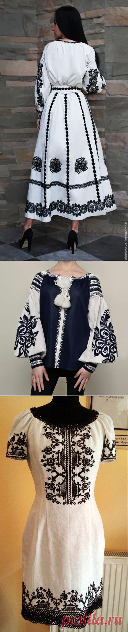 Монохромная вышивка: элегантно, притягательно и стильно