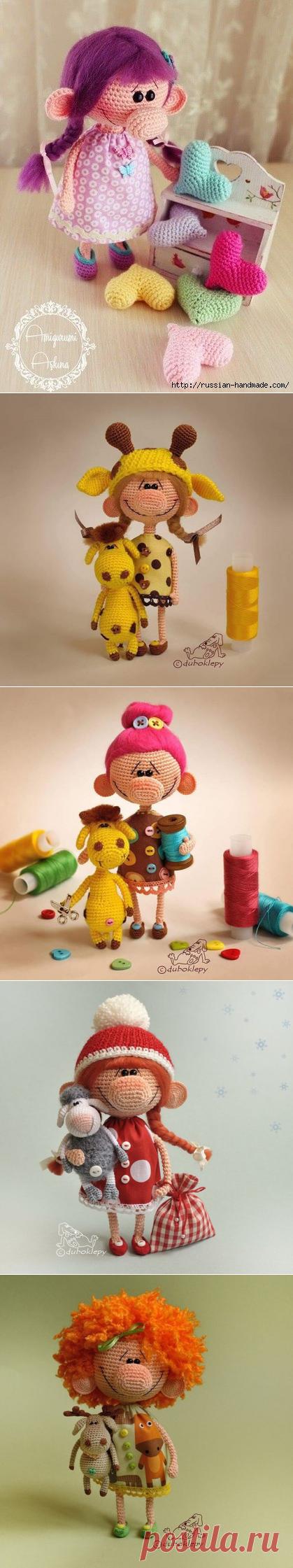 Большеносая куколка (с описанием) | Вязаные куклы крючком ...