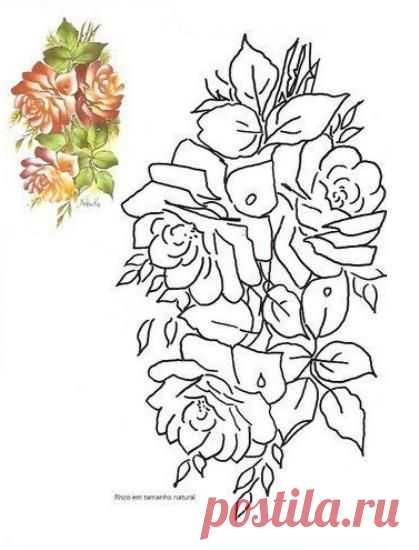 Dibujos Para Colorear Las Flores Patrones Con Apliques T